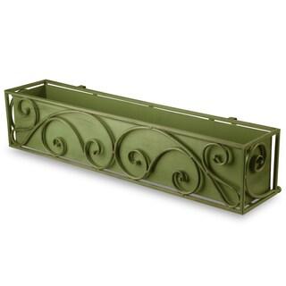 Antique Green Scroll Window Box