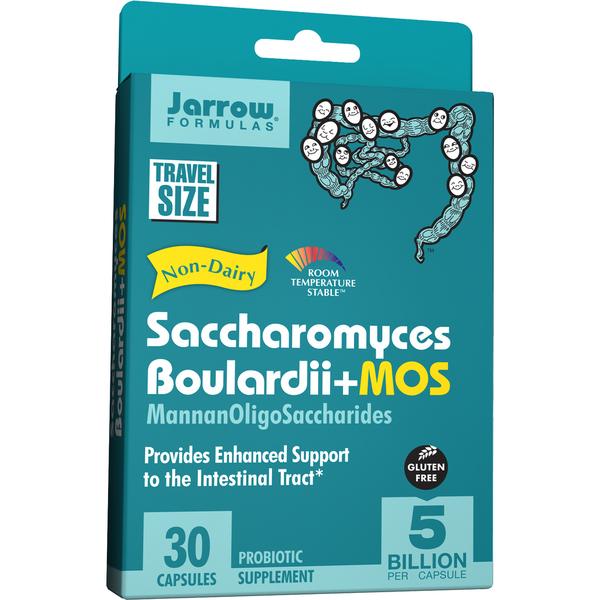 Jarrow Formulas Saccharomyces Boulardii MOS (30 Vegetarian Capsules)