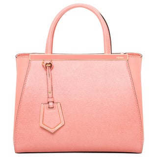 Fendi Petite 2Jours Leather Shopper