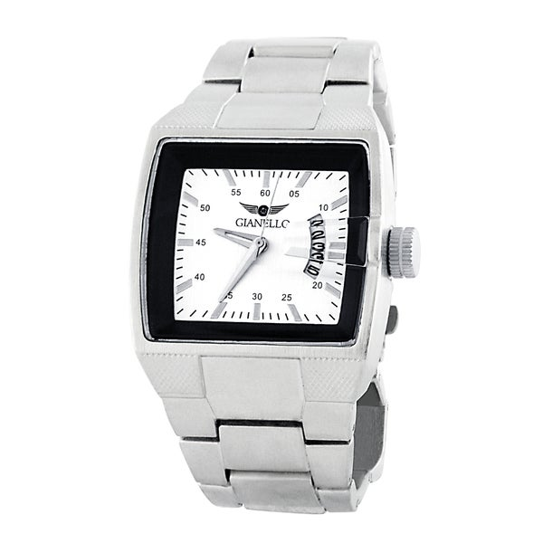 Gianello Men's Metal Bracelet Square Dial Watch