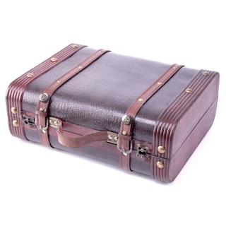 Decorative Faux Gator Leather Suitcase