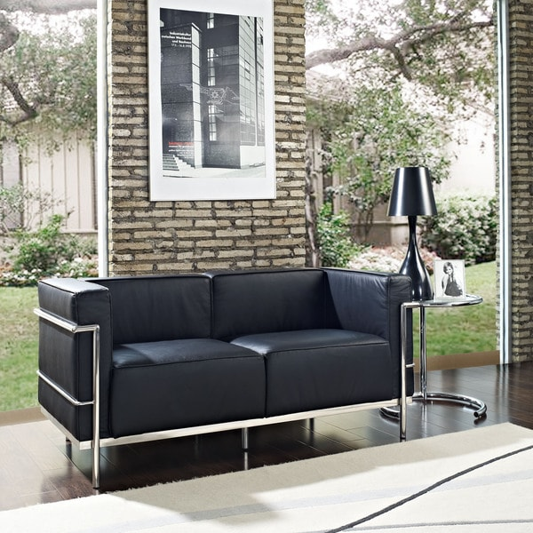 Vienna Leather Three Seater Sofa White: Le Corbusier Style LC3 Sofa 3-seat Or Loveseat 2-seat In