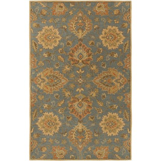 Hand-Tufted Whitby Floral Wool Rug (7'6 x 9'6)