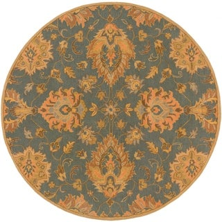 Hand-Tufted Whitby Floral Wool Rug (6' Round)