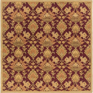 Hand-Tufted Totnes Floral Wool Rug (4' Square)