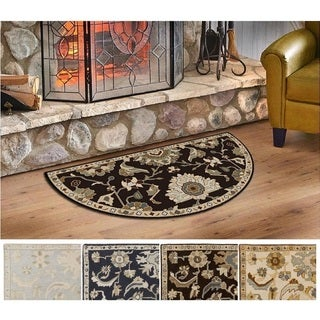 Hand-Tufted Wigton Floral Wool Rug (2' x 4' Hearth)