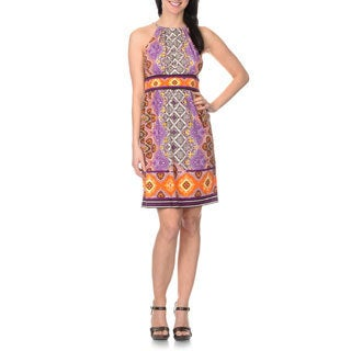 London Times Women's Paisley Print Halter Dress