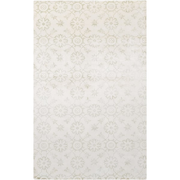 Hand-Loomed Reigate Floral Viscose Rug (2' x 3')