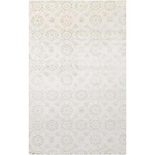 Hand-Loomed Reigate Floral Viscose Rug (5' x 8')