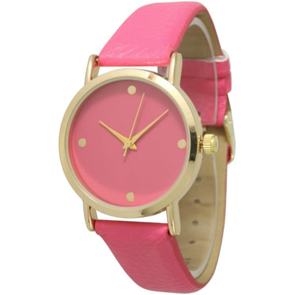 Olivia Pratt Women's Simple Chic Leather Strap Watch