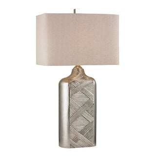 Chestnut Silver Leaf 1-light Table Lamp