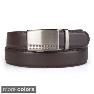 Vance Co. Men's Genuine Leather Adjustable Ratchet Belt