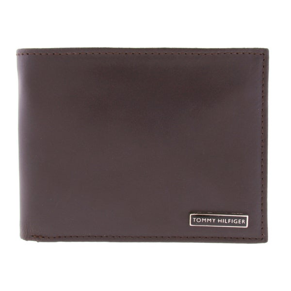 Tommy Hilfiger Men's Bifold Genuine Leather Passcase Wallet