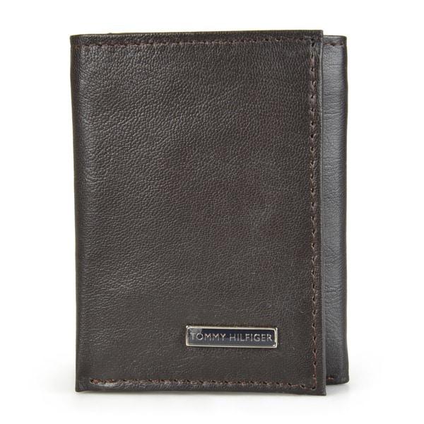 Tommy Hilfiger Men's Trifold Genuine Leather Wallet