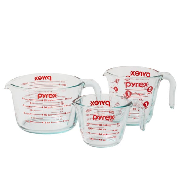 Pyrex Measuring Cup 3-piece Set 15126030