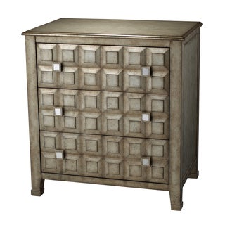 Alfonso Antique Silver 3-drawer Chest