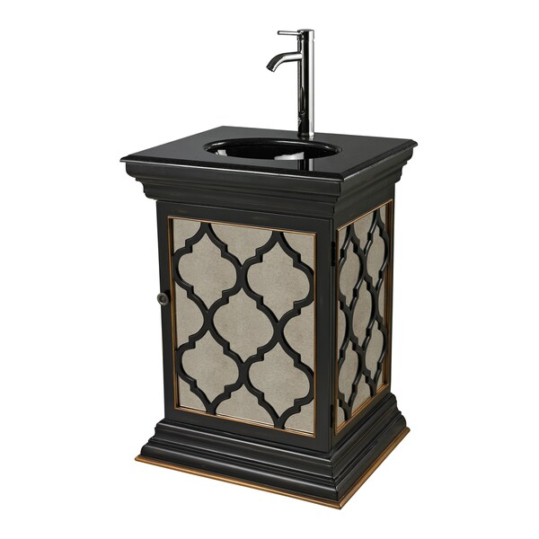 Mariposa Mirrored Vanity Unit With Moorish Pattern