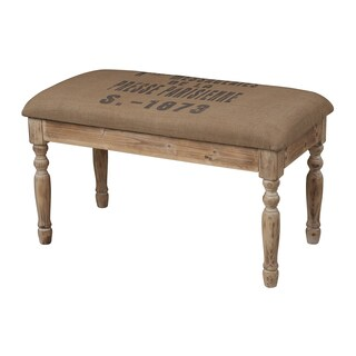 Presse Parisienne' Linen Covered Bench
