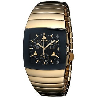 Rado Men's R13872182 'Sintra' Chronograph Gold-tone Stainless Steel Watch