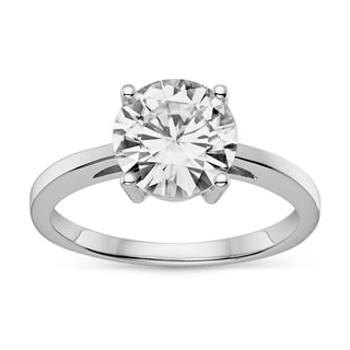 Charles & Colvard Created Moissanite 14k Gold 2 1/10ct TGW Classic Moissanite Round Solitaire Engagement Ring