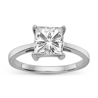 Charles & Colvard 14k Gold 2.10 TGW Square Brilliant Classic Moissanite Solitaire Ring