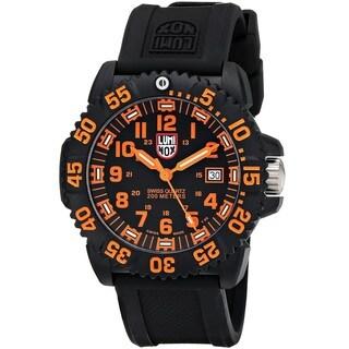 Luminox Men's 3059 'Navy Seal' Black Rubber Watch