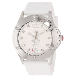 Juicy Couture Women's 1900995 'Rich Girl' White Silicone Watch