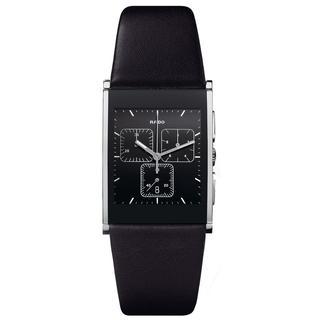 Rado Men's R20849155 'Integral' Chronograph Black Leather Watch