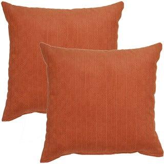 Brisco Teak 17-inch Throw Pillow (Set of 2)