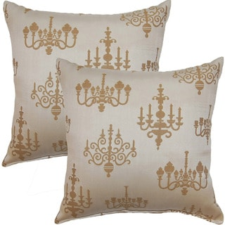 Chandelier Oatmeal 17-inch Throw Pillow (Set of 2)
