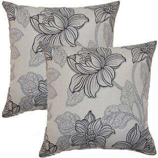 Quesera Grey 17-inch Throw Pillow (Set of 2)