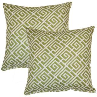 Quadrotto Kiwi 17-inch Throw Pillow (Set of 2)