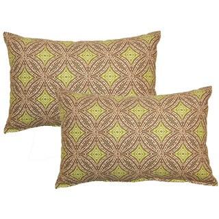 Sun Swirl Stone Decorative Throw Pillow (Set of 2)