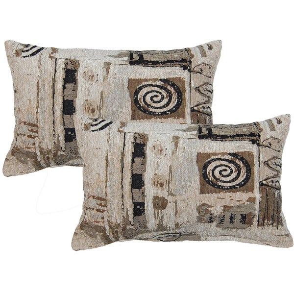 Everton Beige Decorative Throw Pillow (Set of 2)