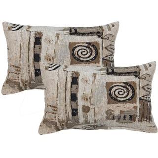 Everton Beige Decorative Throw Pillow (Set of 2)
