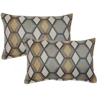 Geo Paramount Grey Decorative Throw Pillow (Set of 2)