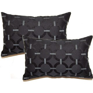 Unbridled Black Decorative Throw Pillow (Set of 2)