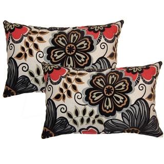 Clementine Ebony Decorative Throw Pillow (Set of 2)