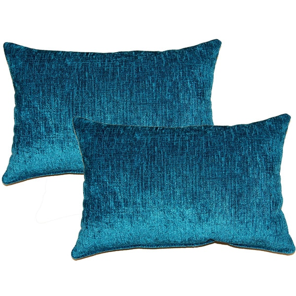 Throw Pillows Set Of 4 : Eaton Teal Decorative Throw Pillow (Set of 2) - 17165752 - Overstock.com Shopping - Great Deals ...