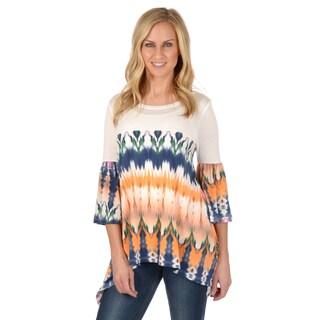 Journee Collection Women's Bell Sleeve Scoop Neck Tunic Top