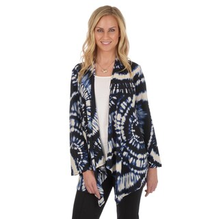 Journee Collection Women's Tie-dye Long Sleeve Cardigan