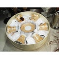 D'Lusso Designs Twelve-piece Gold Espresso Set