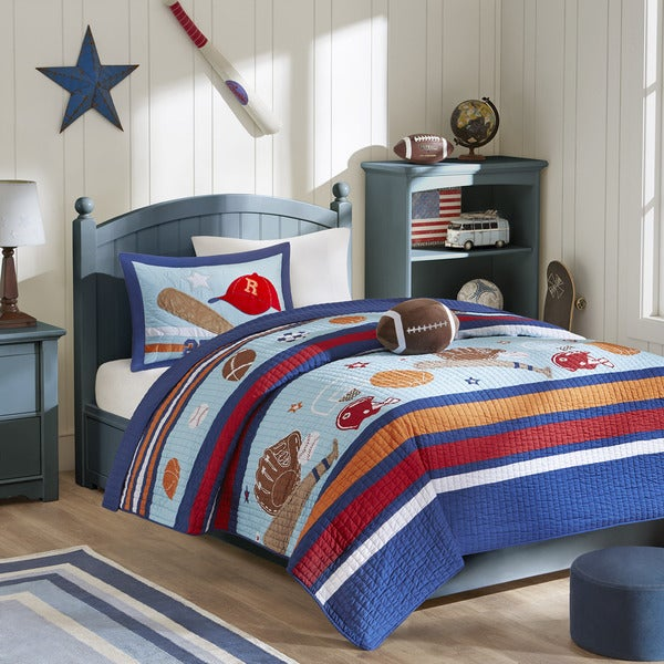 Mi Zone Kids Homerun Harley Coverlet Set