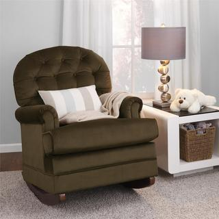 Baby Relax Brielle Button Tufted Brown Rocker