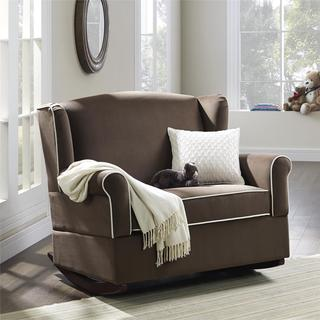 Baby Relax Lainey Java Brown Wingback Chair and a half Rocker
