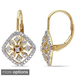 Miadora 14k Yellow or Rose Gold 1/6ct TDW Diamond Dangle Earrings (G-H, I1-I2)