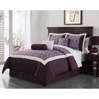 Journee Collection 'Biscay' 7 pc Embroidered Comforter Set