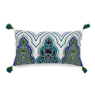 Collier Campbell Pondicherry Floral Embroidered Decorative Throw Pillow