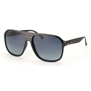 Gucci Men's 1076/S Plastic Aviator Sunglasses
