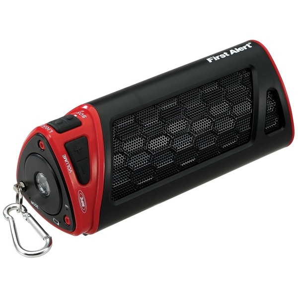 Spectra First Alert Portable NFC Bluetooth Wireless Speaker with Flashlight